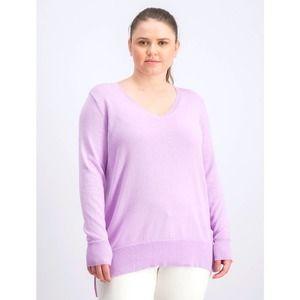 Lilac Moon V-Neck Tunic Sweater XL